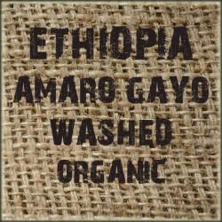 Ethiopia Amaro Gayo Washed Organic
